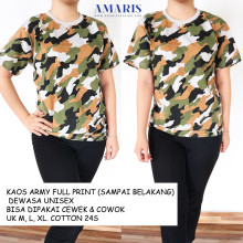 Amaris Fashion - Kaos Oblong Army Fullprint - Kaos Pria/Wanita - Tshirt/Kaos Murah