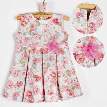 Amaris Fashion - Dress Babby / Dress Anak 1-3 Tahun - Mini Dress - Dress Flower Pink Salem
