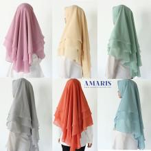 Amaris Fashion - Khimar Syari 3 Layer - Hijab Muslimah - Jilbab Syari Murah