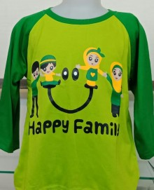 Amaris Fashion - Kaos Anak Family - Raglan Motif Anak