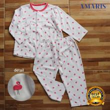 Amaris Fashion - Piyama Baby Doll Flamingo White - Setelan Piyama Anak 4-10 Tahun