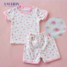 Amaris Fashion - Setelan Bermain Bayi - Top Bottom Baby - Baju Tidur Bayi Rose Bintik