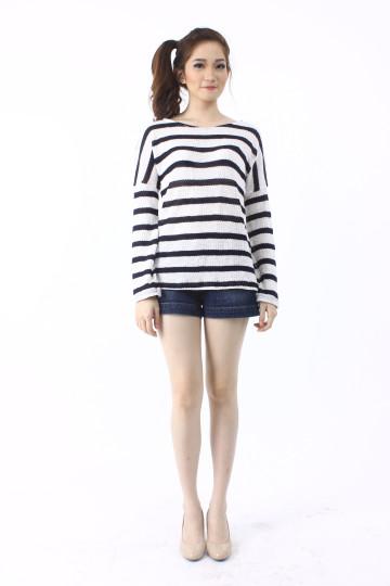 Abbey Stripe Loose Knit Sweater