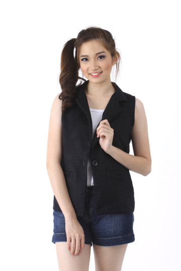 Blazer Vest in Black