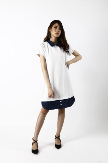 Maison Collar Denim Dress- SELLING FAST!