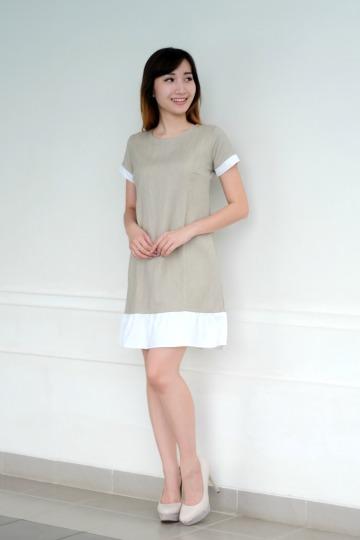 NEW Owen Ruffle Dress in Cream