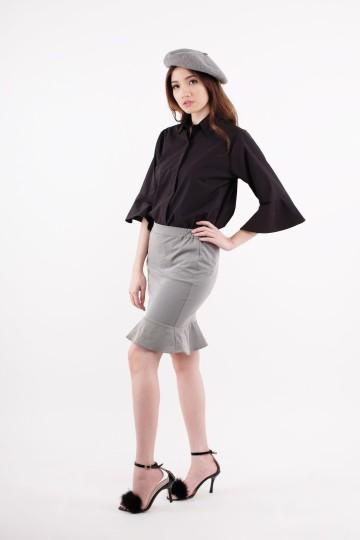 Cleo Grey Mermaid Skirt