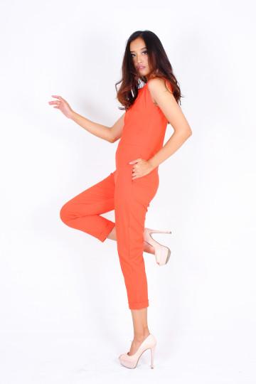 Edina Spring Jumpsuit in Orange