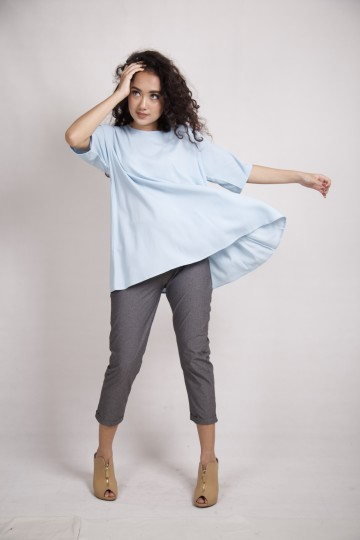 Candy Simple Top in Baby Blue