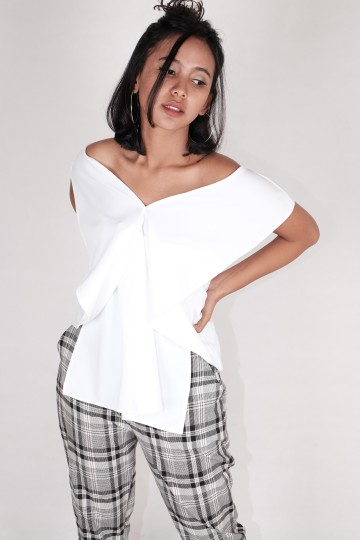 Carrol Off Shoulder Top White (MULTI - USED!)
