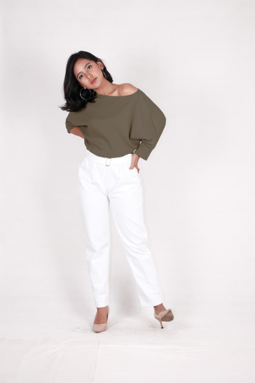 Kay Knit Sweater in Army