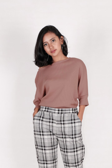 Kay Knit Sweater in Red Brick