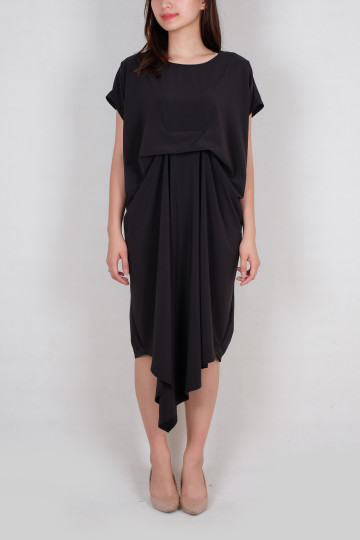 Kayra Kaftan Dress in Black