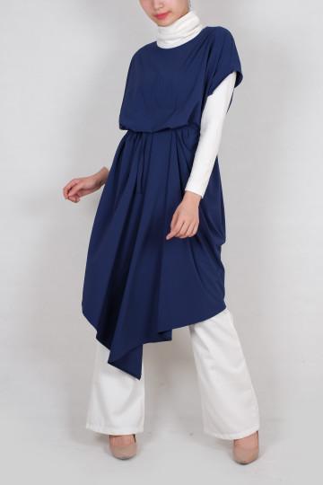 Kayra Kaftan Dress in Blue