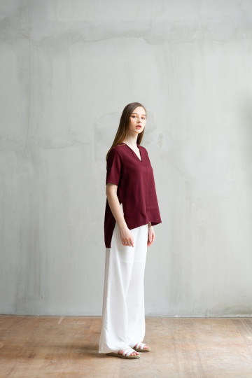 Maroon Blair Top