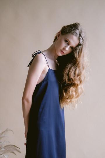 Navy Maple Dress
