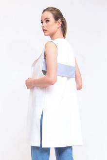 Hana Back Belted Vest - White