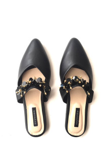 Philipa Beaded Mules - Black
