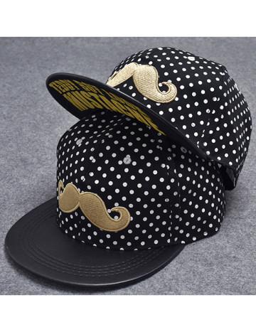 Gold Mustache Hat
