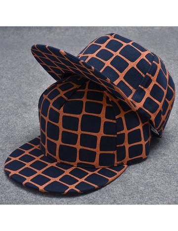 Navy Grid Hat