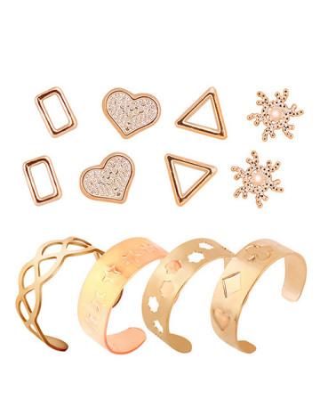 Accessories Set #1 (4 Earrings + 4 Rings)