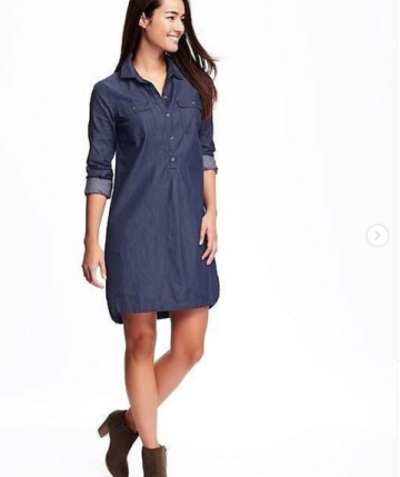 ffdbf4fc692f5 OLD NAVY CHAMBRAY SHIRT DRESS image