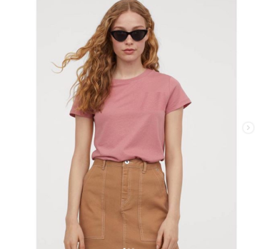 60e8d214f71 H M Jersey T shirt - Basic pink image