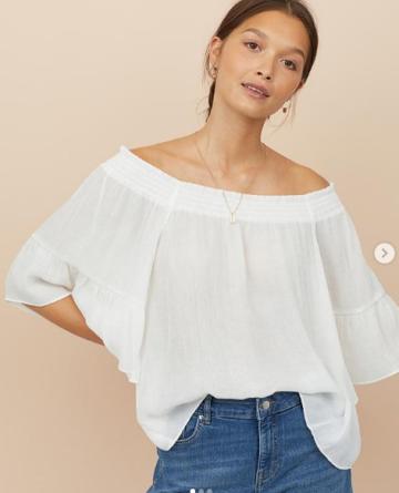 78f1cd02bcb7e5 H&M Off the shoulder blouse - white image