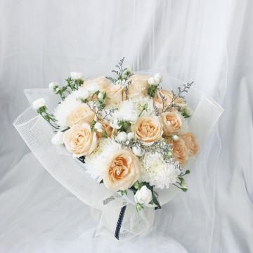 Valentine's Special_Peach Garden Bouquet image