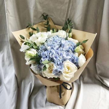 Valentine's Special_Rustic Blue Jasmine Bouquet image
