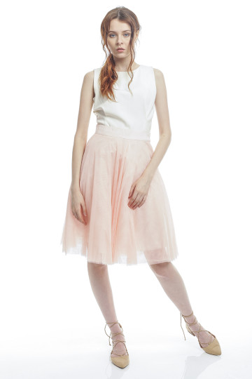 Marie Tulle Skirt - Peach