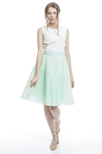 Marie Tulle Skirt - Mint