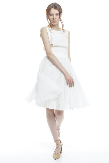 Marie Tulle Skirt - White