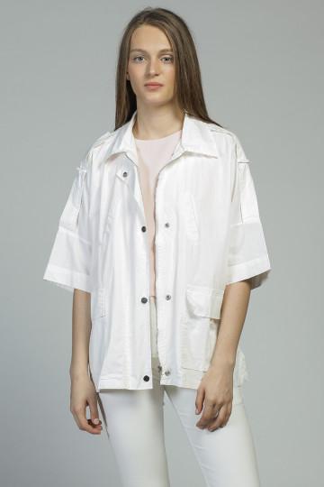 Elodie Oversize Parka - White