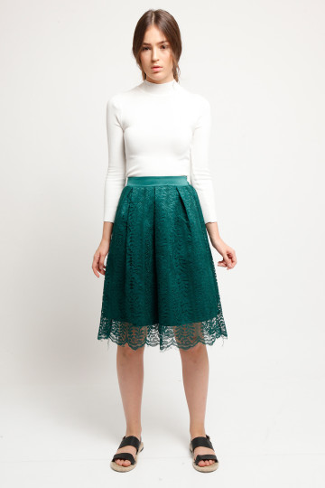 Coco Lace Skirt - Green