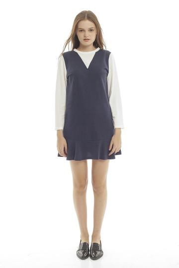Nikki Lacoste Dress - Navy