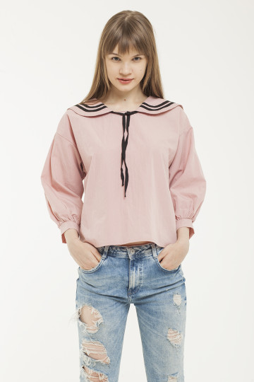 Olive Sailor Top - Dusty Pink