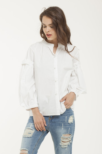 Lily Pearl Shirt - White