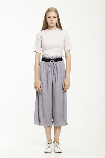 Deana pleats pants - Grey