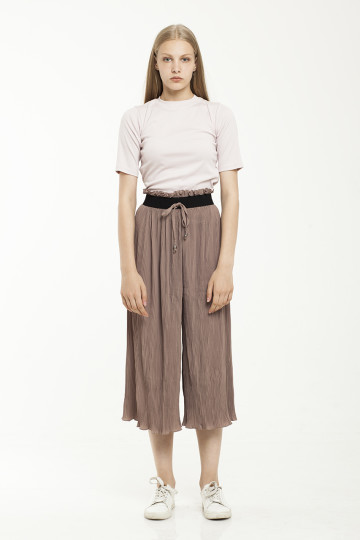 Deana pleats pants - Brown