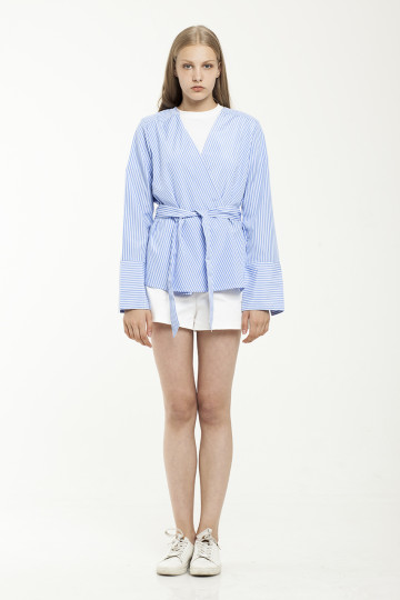 Lona Stripe Outer - Light Blue
