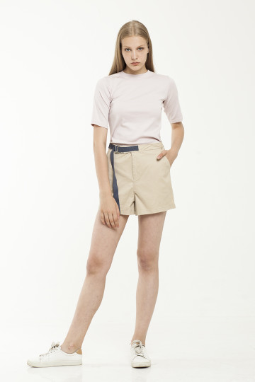 Devona Blue Strap Short - Creme