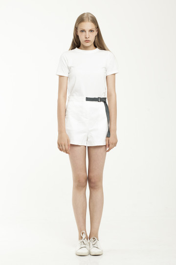 Devona Blue Strap Short - White