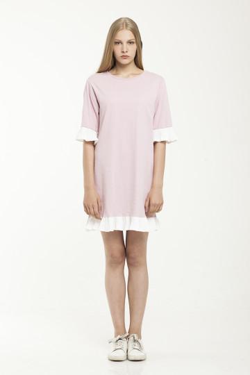 Naia Jersey Dress - Pink