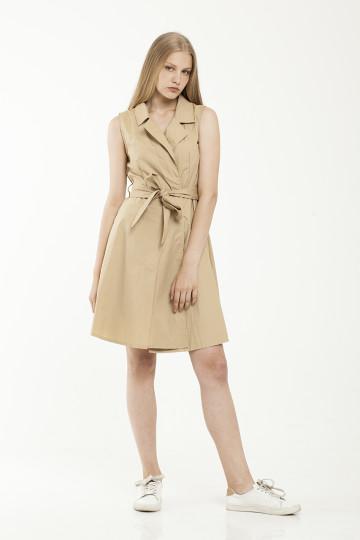 Tiffany Trench Tank Dress - Khaki