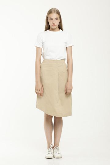 Robin Asym Skirt - Khaki