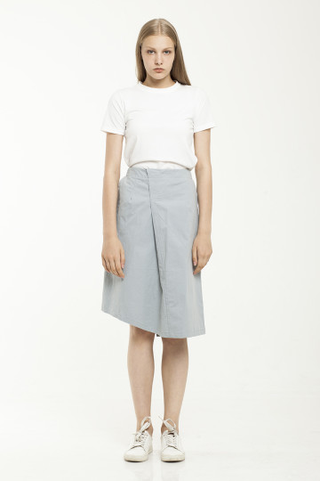 Robin Asym Skirt - Blue