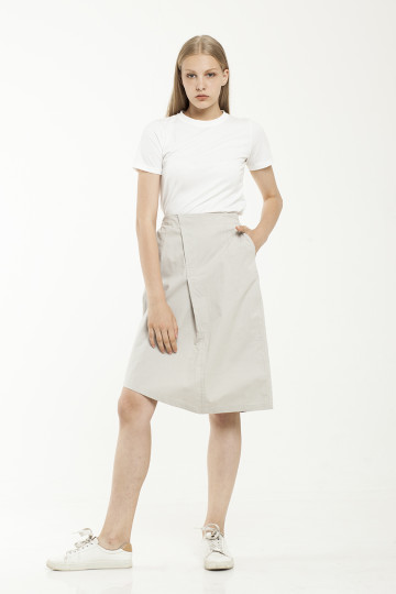 Robin Asym Skirt - Grey