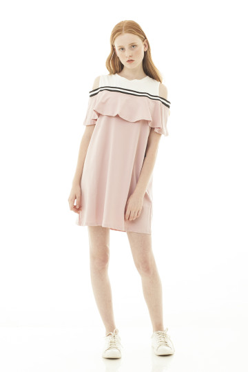 Marchelle Cutout Sporty Dress - Pink