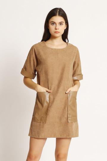 Kirana Leather Pocket - Khaki
